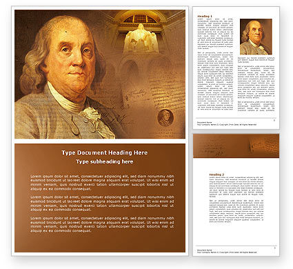 Benjamin Franklin Word Template