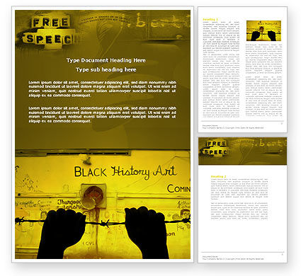 Art & Entertainment: Human Rights Word Template #04254