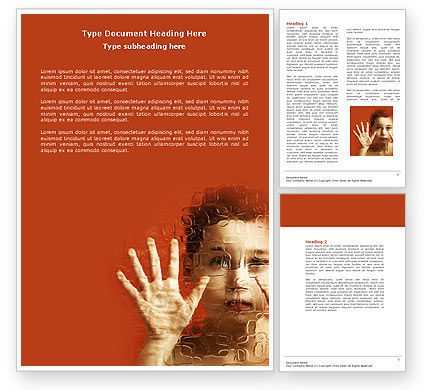 Autism Word Template, 04257, Medical — PoweredTemplate.com