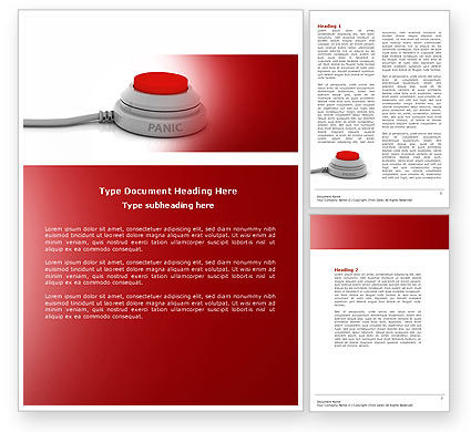 Panic Button Word Template, 04259, General — PoweredTemplate.com