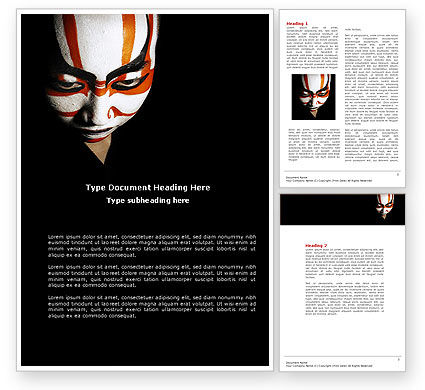 Art & Entertainment: Japanese Samurai Word Template #04260