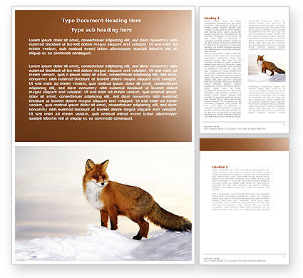 Agriculture and Animals: Red Fox Word Template #04264