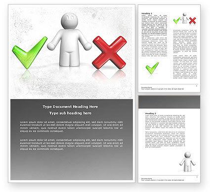 Education & Training: Dilemma Word Template #04272