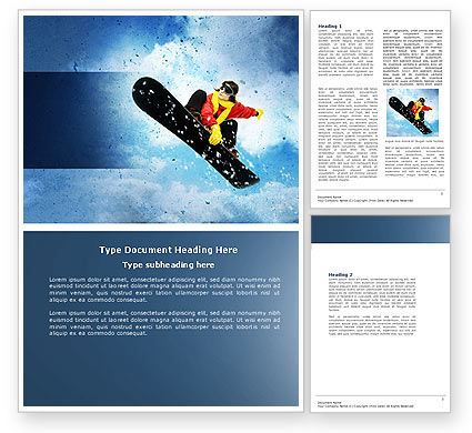 Snowboard Word Template, 04275, Sports — PoweredTemplate.com