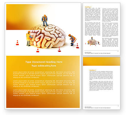 Smart Thinking Word Template, 04279, Construction — PoweredTemplate.com