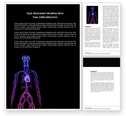 Medical: Cardiovascular System Word Template #04281