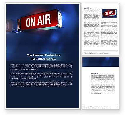 Live Broadcast Word Template, 04285, Careers/Industry — PoweredTemplate.com