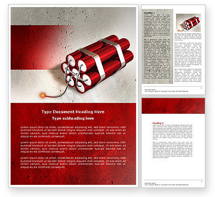 Dynamite Word Template, 04287, Military — PoweredTemplate.com