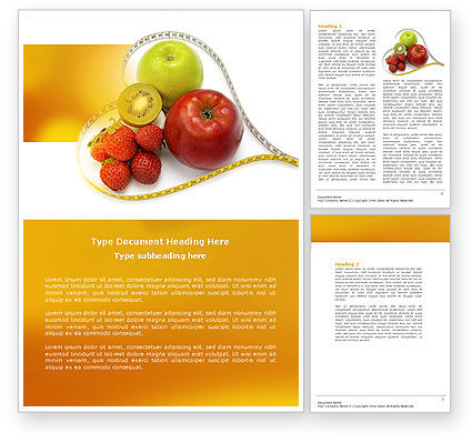 Balanced Nutrition Word Template 04289 | PoweredTemplate.com