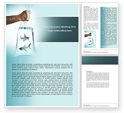 Free Sharks Word Template, 04291, Business Concepts — PoweredTemplate.com