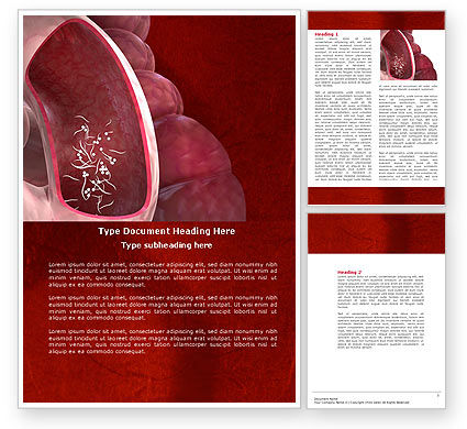 Intestinal Parasites Word Template, 04294, Medical — PoweredTemplate.com