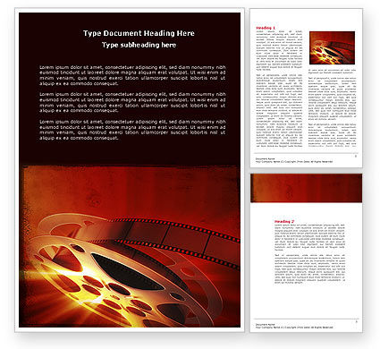 Art & Entertainment: Filmmaking Word Template #04295