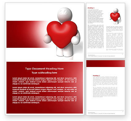 True Love Word Template, 04299, Holiday/Special Occasion — PoweredTemplate.com