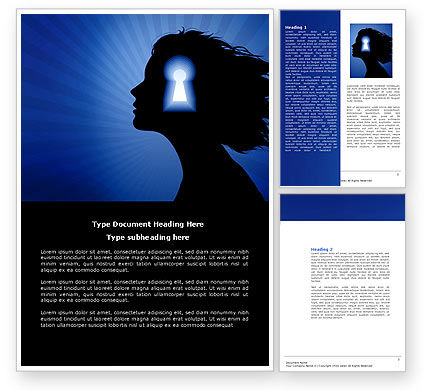 Consulting: Female Mind Word Template #04302