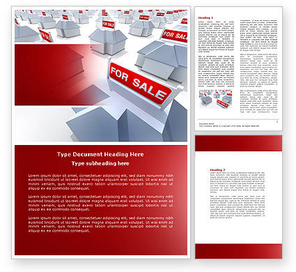 Construction: Modelo do Word - imobiliário em grande venda #04307