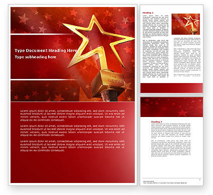 Star Of The Best Word Template, 04316, Holiday/Special Occasion — PoweredTemplate.com