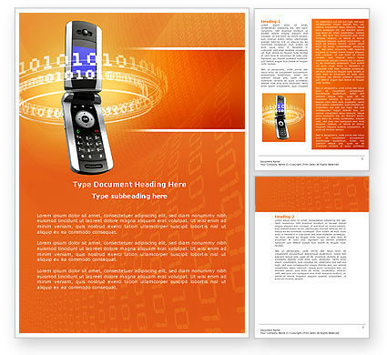 Telecommunication: Mobile Service Provider Word Template #04320