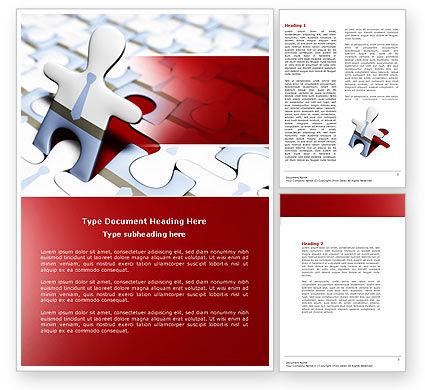 Jigsaw Man Word Template, 04332, Business — PoweredTemplate.com
