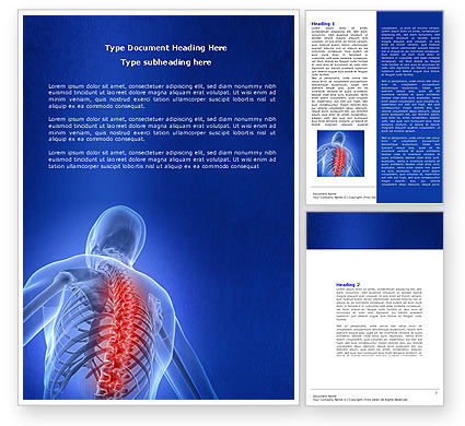 Osteoporosis Word Template, 04334, Medical — PoweredTemplate.com