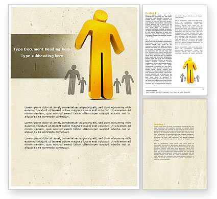 Business Concepts: Self-actualization Word Template #04337