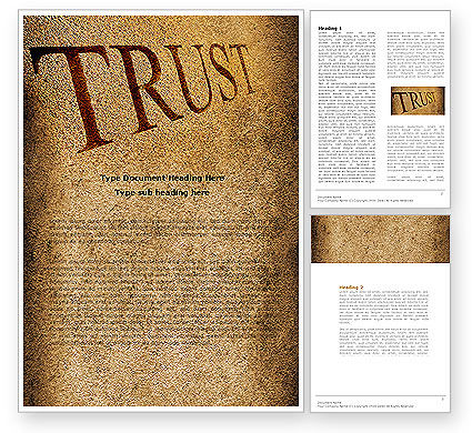 Trust Word Template, 04364, Financial/Accounting — PoweredTemplate.com