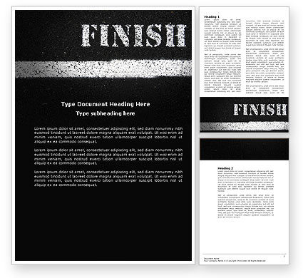 Business Concepts: Finish Line Word Template #04369