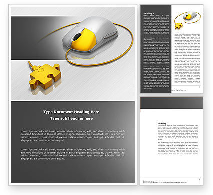 Technology, Science & Computers: Computer Mouse Connection Word Template #04372