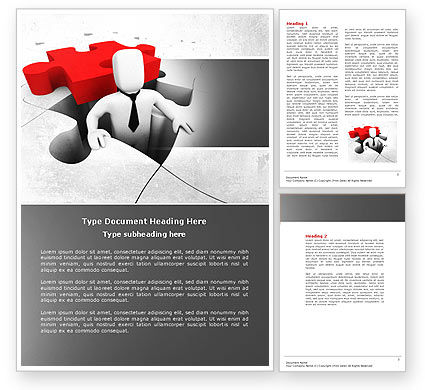 Business Concepts: Business Crisis Solution Word Template #04375