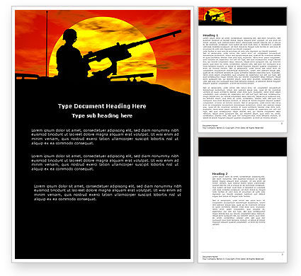 Military Actions Word Template, 04377, Military — PoweredTemplate.com