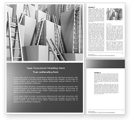Consulting: Ladders Word Template #04379