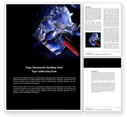 Cocaine Word Template, 04384, Medical — PoweredTemplate.com