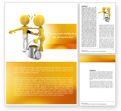 Business Concepts: Repainting Man Word Template #04394