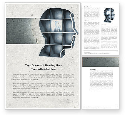 Education & Training: Corner of Mind Word Template #04398