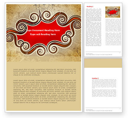 Abstract/Textures: Whimsical Title Word Template #04402