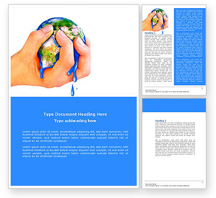 Global: Resource Depletion Word Template #04406