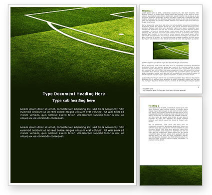 Football Duel Word Template, 04410, Sports — PoweredTemplate.com