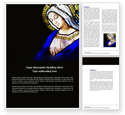 Art & Entertainment: Virgin Mary Word Template #04411