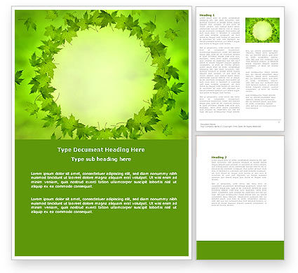 Abstract/Textures: Green Circle Word Template #04428