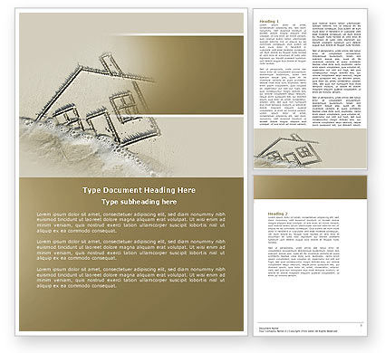 House Loan Word Template, 04433, Financial/Accounting — PoweredTemplate.com