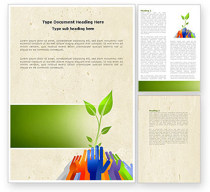 Nature & Environment: Ecology Building Word Template #04438