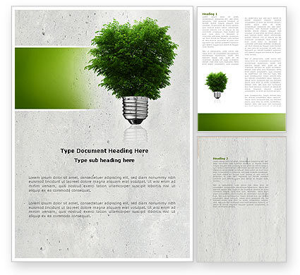 Nature & Environment: Green Energy Word Template #04448