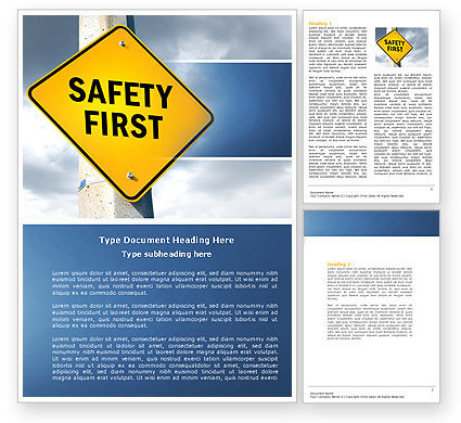 Careers/Industry: Safety First Word Template #04449