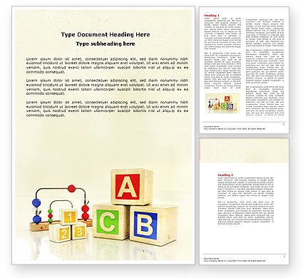Education & Training: ABC Blocks Word Template #04450
