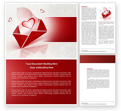 Holiday/Special Occasion: Free Letter With Love Word Template #04451