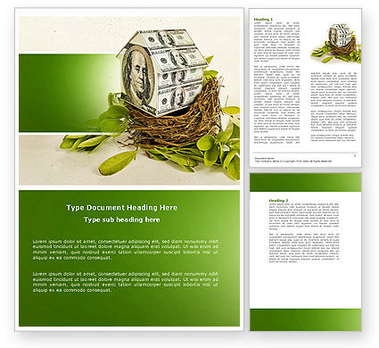 Loan On Mortgage Word Template, 04454, Financial/Accounting — PoweredTemplate.com