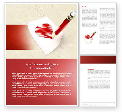 Holiday/Special Occasion: Picture of Heart Word Template #04457