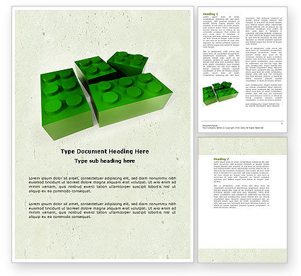 Construction: Lego Part Word Template #04460