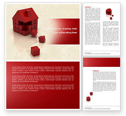3D Cubes Building Word Template, 04463, Construction — PoweredTemplate.com