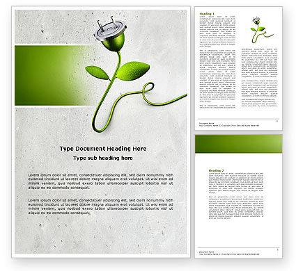 Renewable Energy Word Template, 04465, Careers/Industry — PoweredTemplate.com