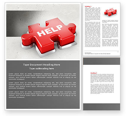 Consulting: Help Puzzle Word Template #04470